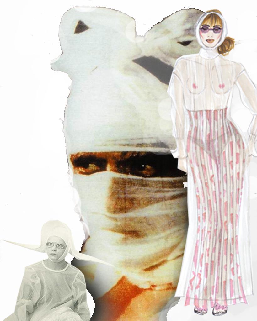 Figurino Carmelo Bene fazzoletto