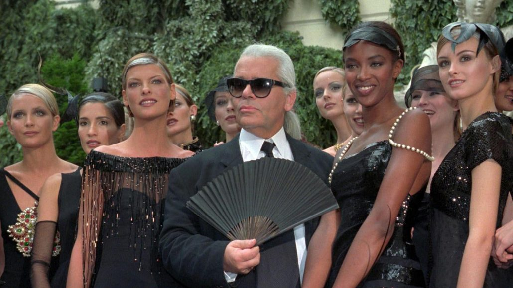 lagerfeld and models